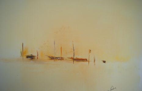 Barques au couchant, 1974