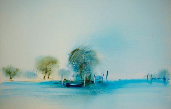 Lumière bleue sur l'étang, 1974-75